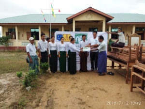 Donation of School Furnitures