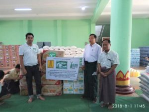 Donation of flood victims