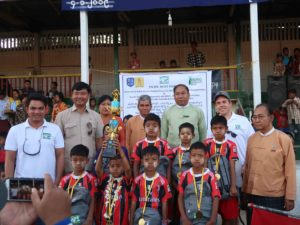 CSR: Interschool U-11 Football Cup in PSC C-1, Sagaing Region