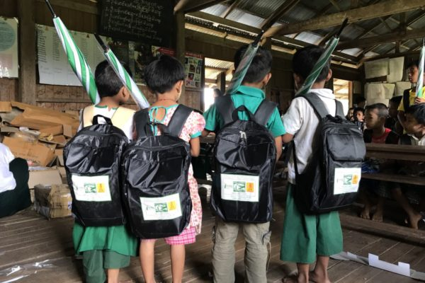 Donation of laptops, printers, first aid kits and school supplies