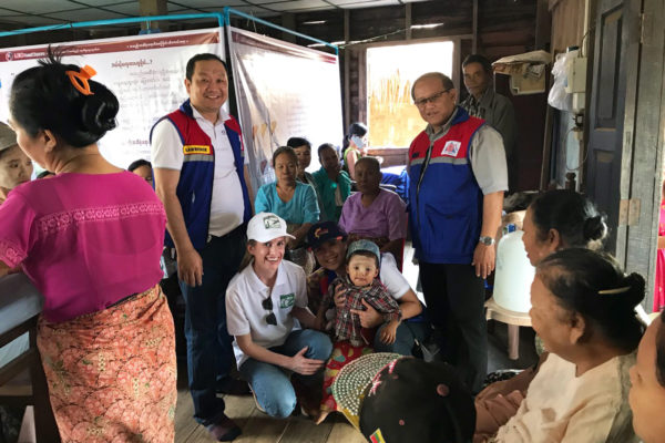 pacific hunt staff with villages at mobile clinic